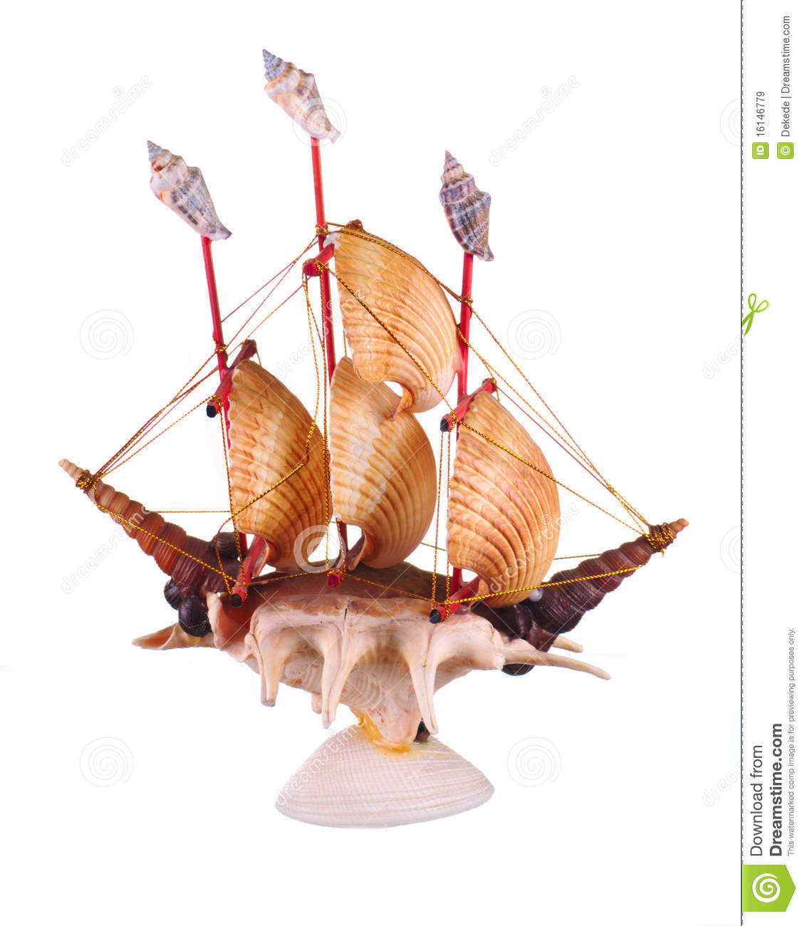 Royalty free stock images boat made of shells image for What are shells made of