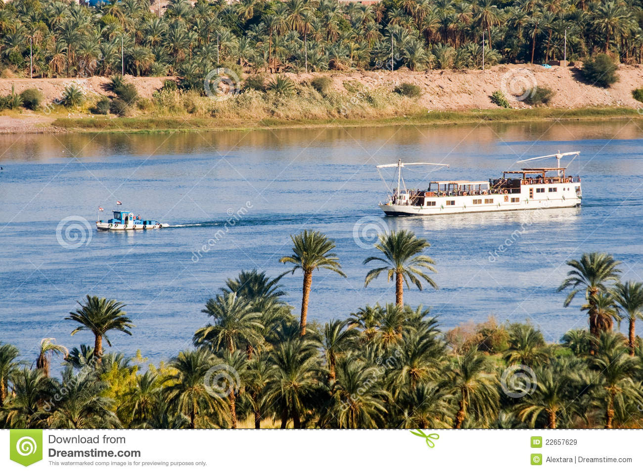 Boat On Nile River Royalty Free Stock Images - Image: 22657629