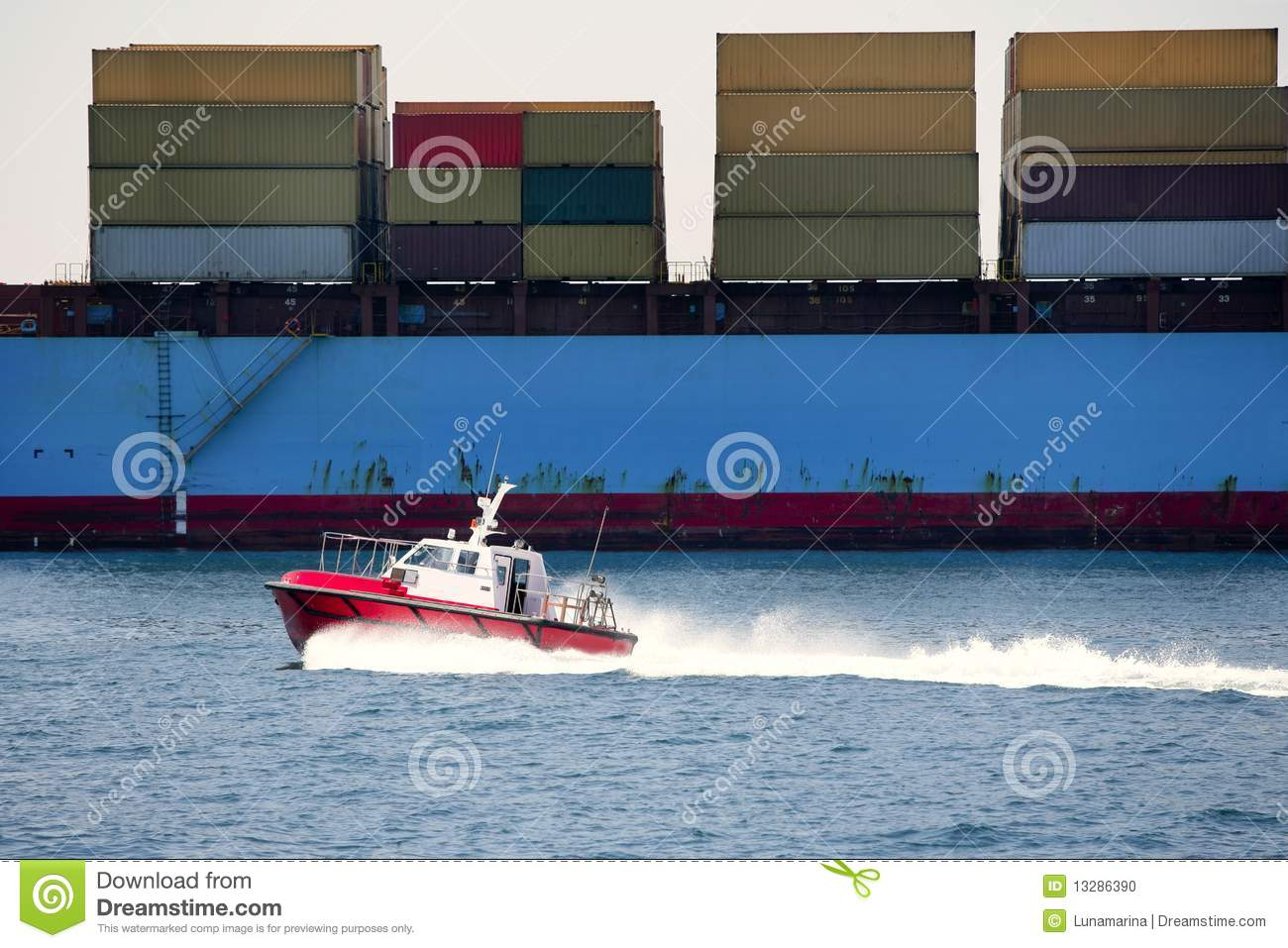 Boat port pilots compared to cargo container