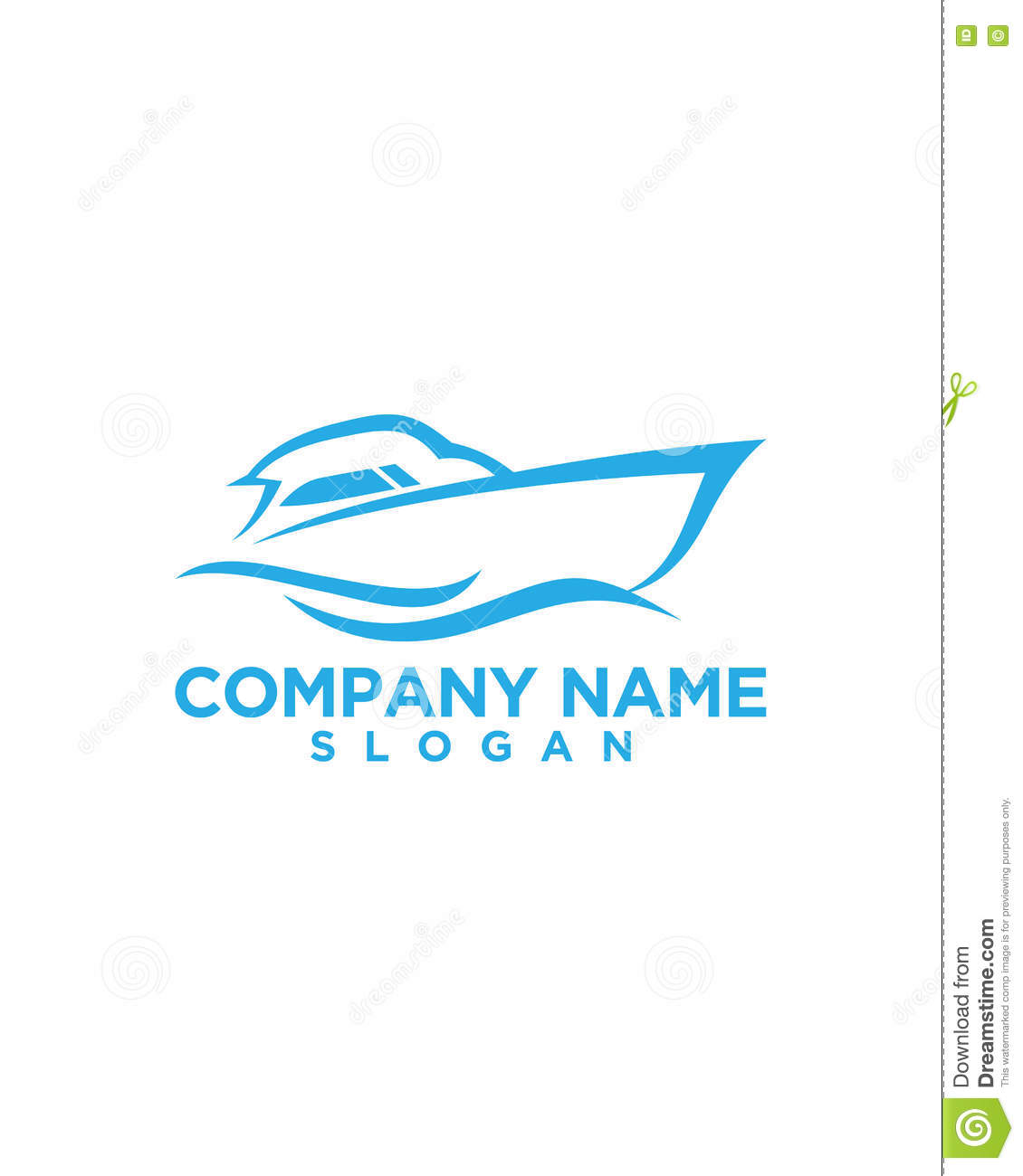 Boat rent logo design 4