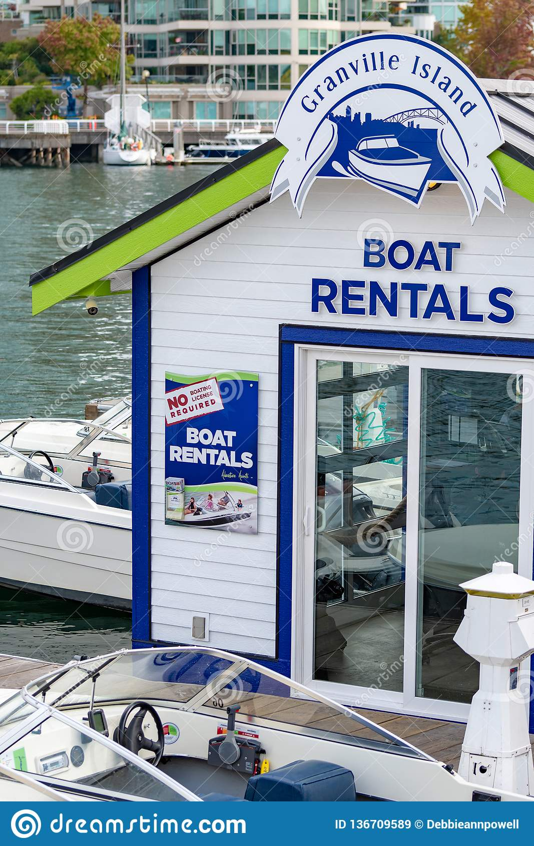 Boat Rental Shop On Granville Island Editorial Stock Image Image Of British Paddle 136709589