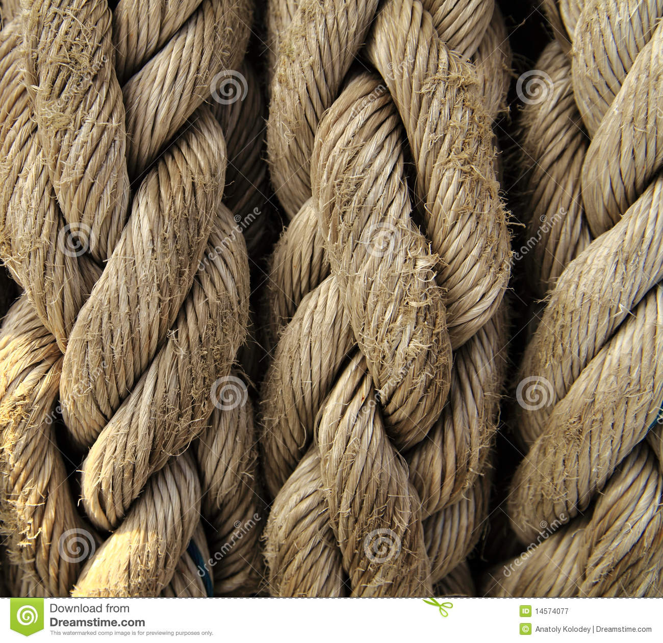 Ribbon Cable Texture : Boat rope closeup nautical background stock image
