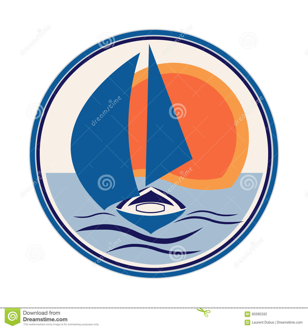 Boat Sailboat Logo Stock Illustration - Image: 83395332