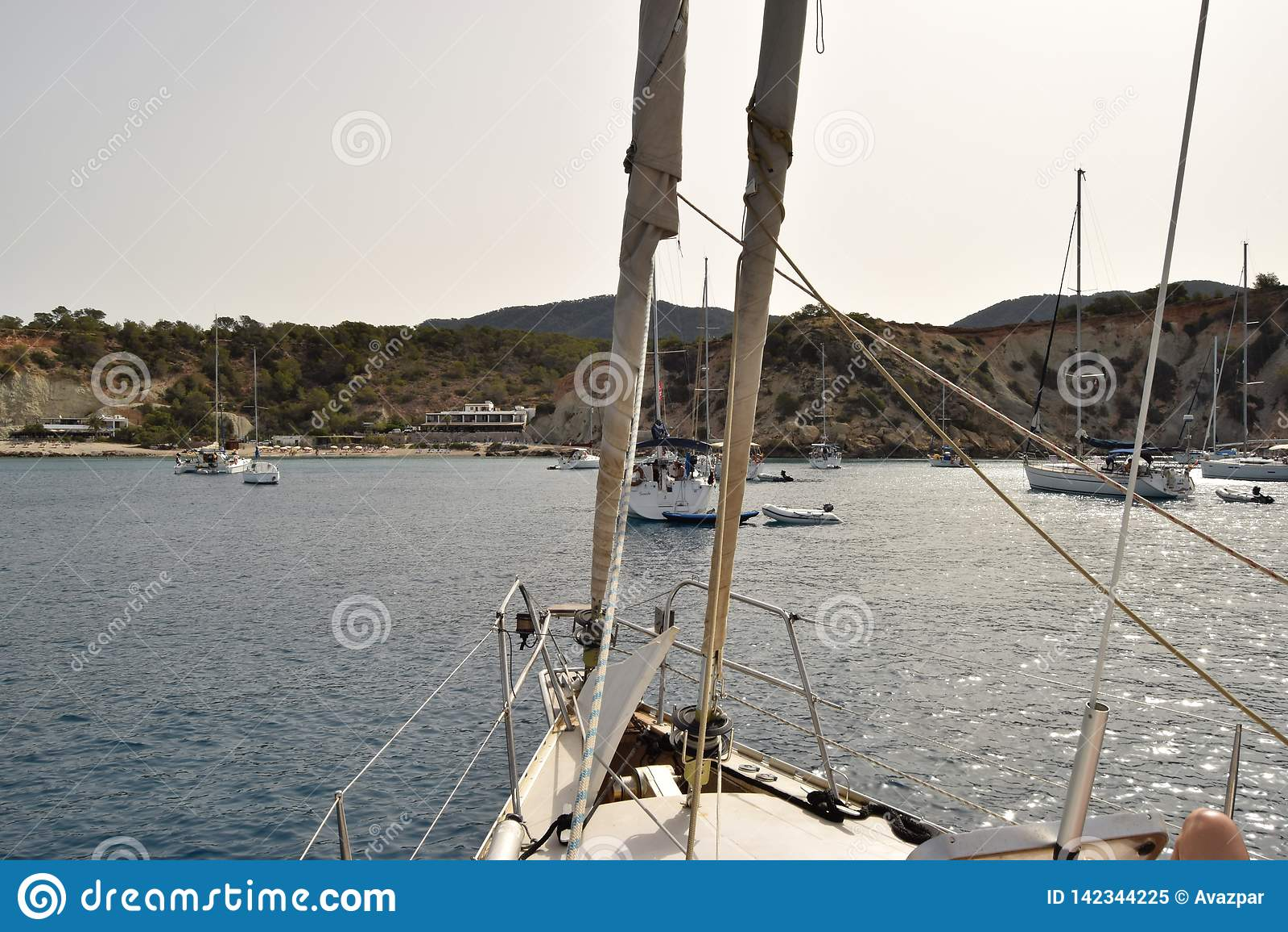 Boat sails - Ibiza Spain