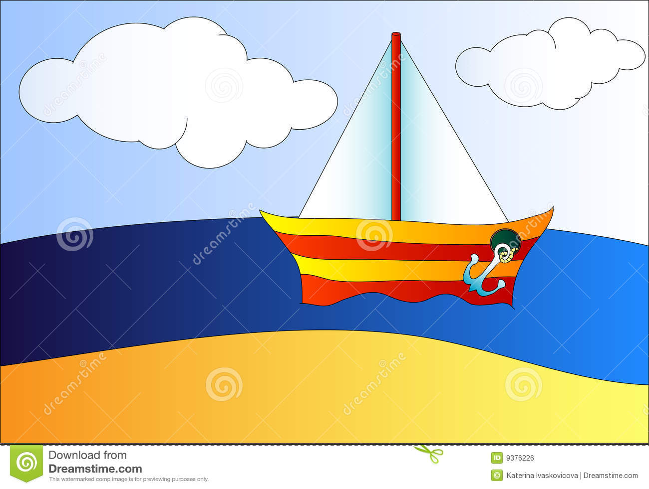 Boat On The Sea Royalty Free Stock Image - Image: 9376226