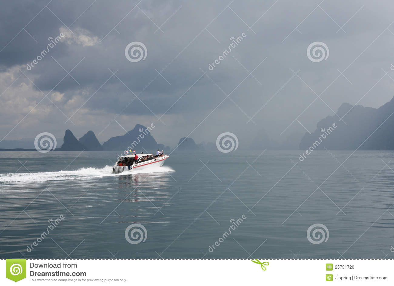 Boat in Sea in stormy weather