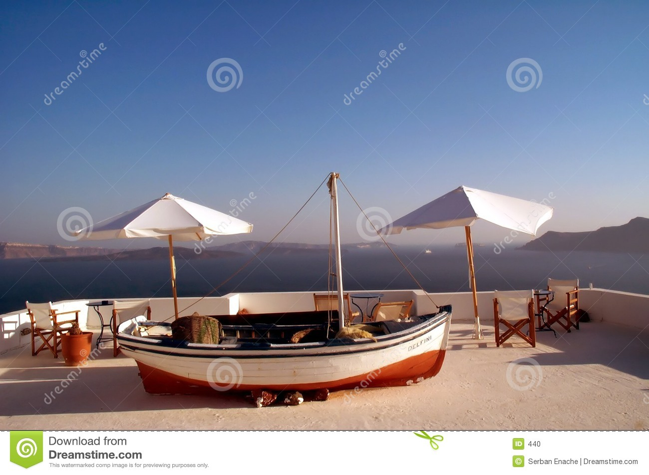 Boat and tables