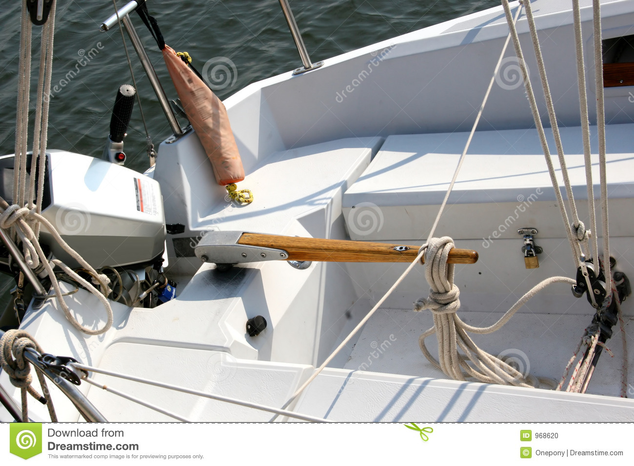 Boat Tiller stock photo  Image of lines, vessel, knots - 968620