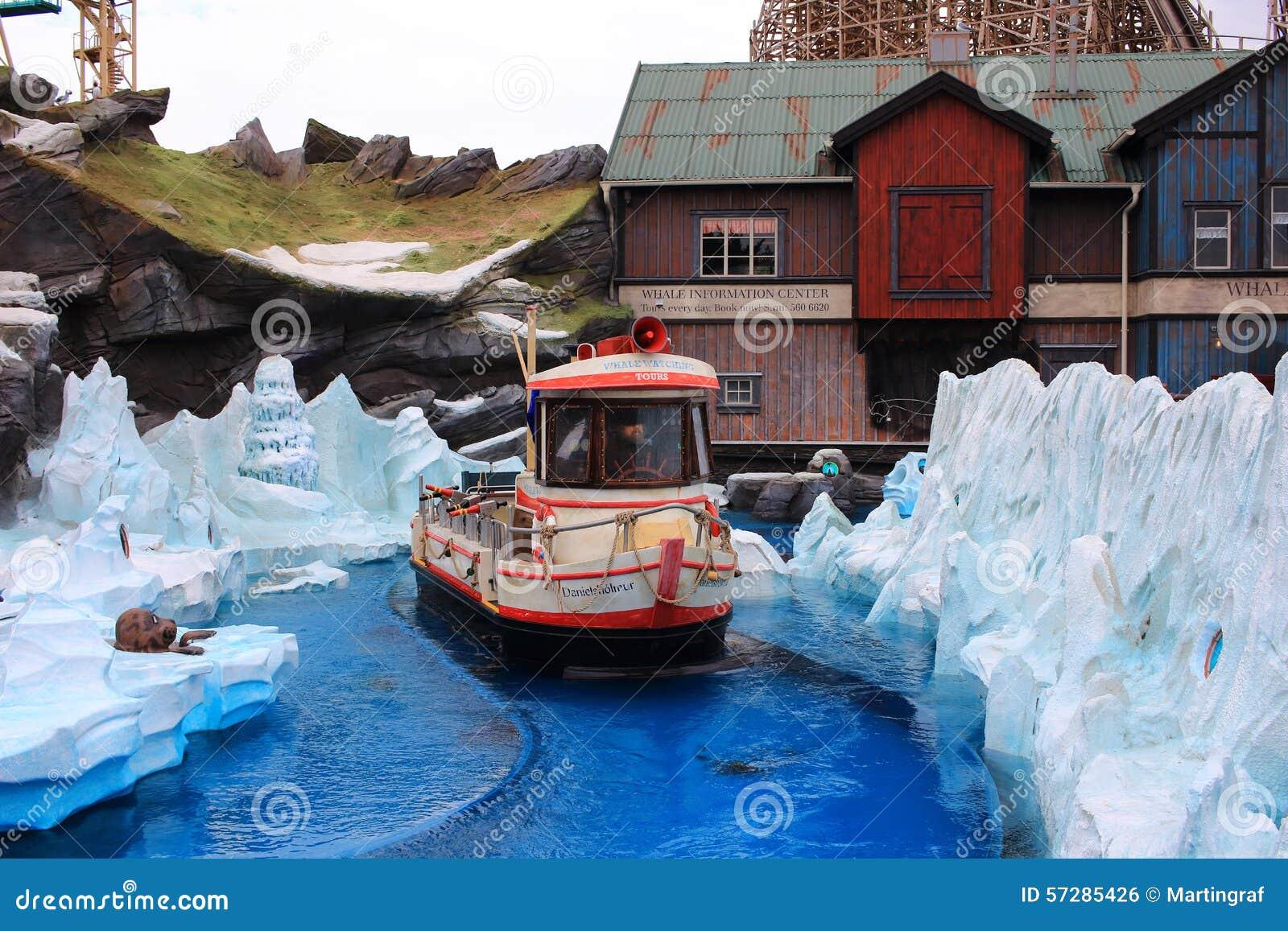 Boat Tour Icelandic Area Theme Park Editorial