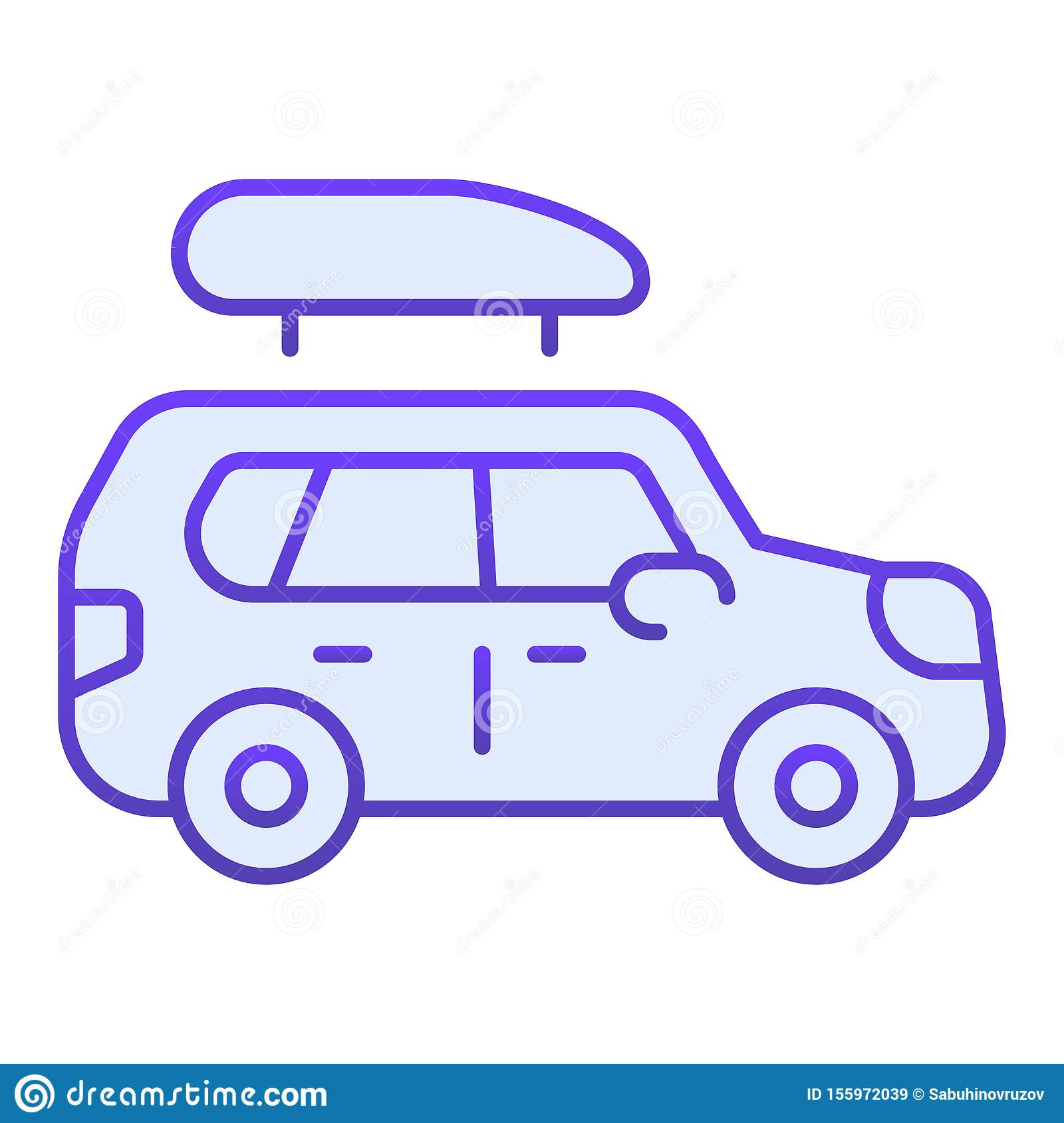 Boat trailer flat icon. Automotive with boat blue icons in trendy flat style. Truck gradient style design, designed for