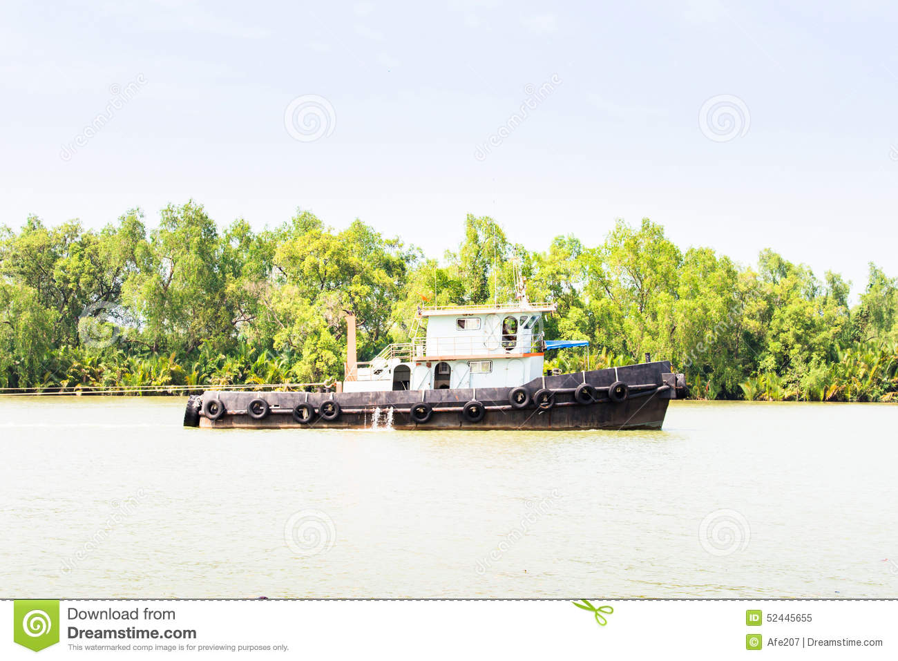 Thought asian river boat boat