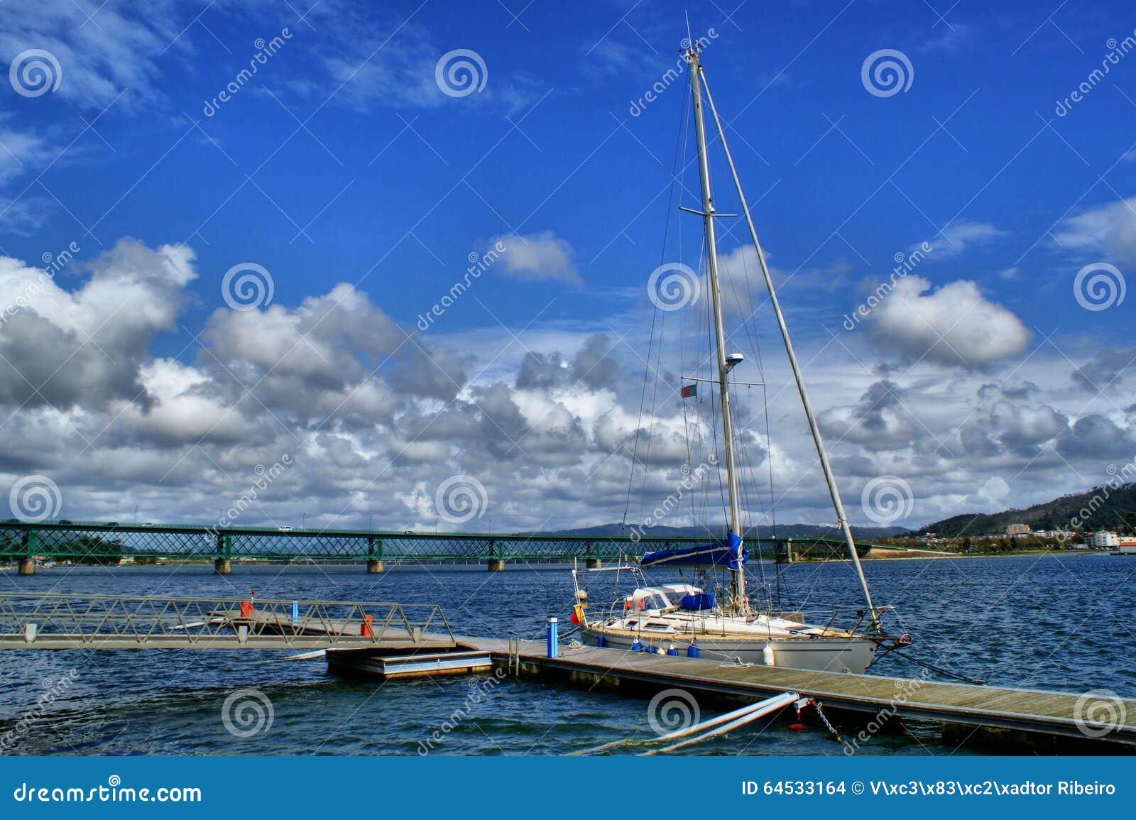 Boat in Viana do Castelo marina