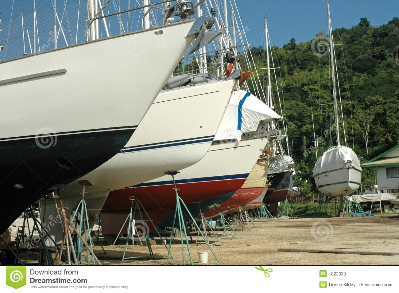 Boat Yard Caribbean Royalty Free Stock Images - Image: 1823339