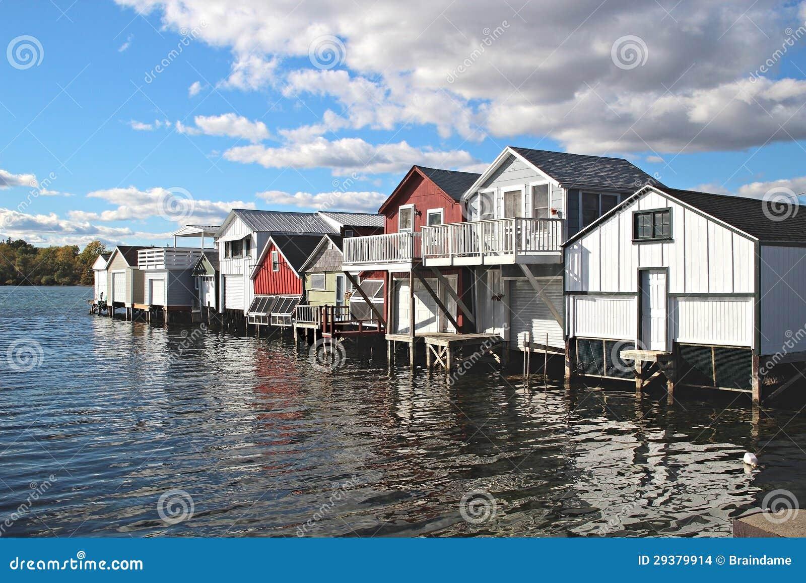 Boathouses On Canandaigua Lake, New York Stock Photo - Image: 29379914
