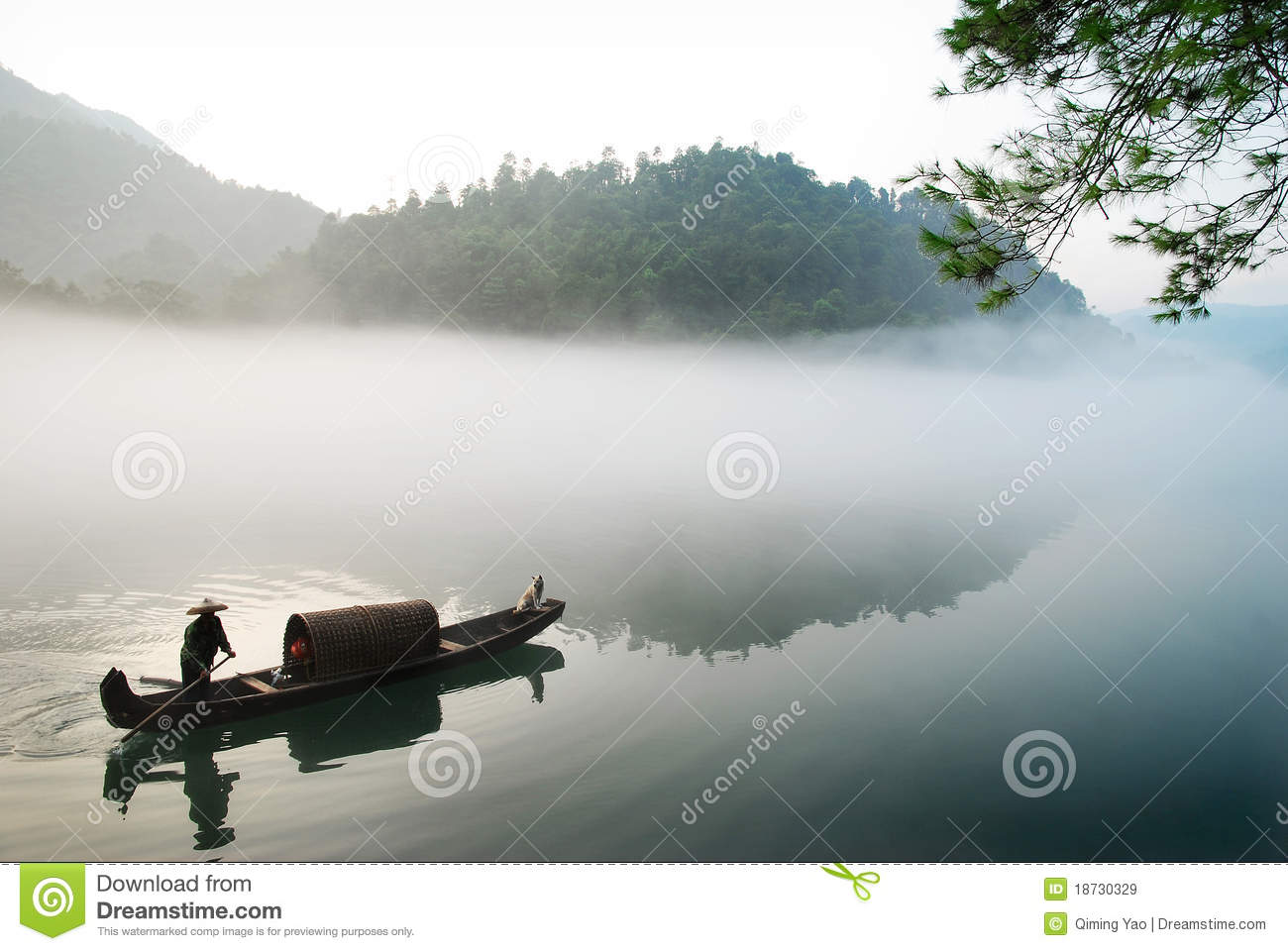 Boating in the fog