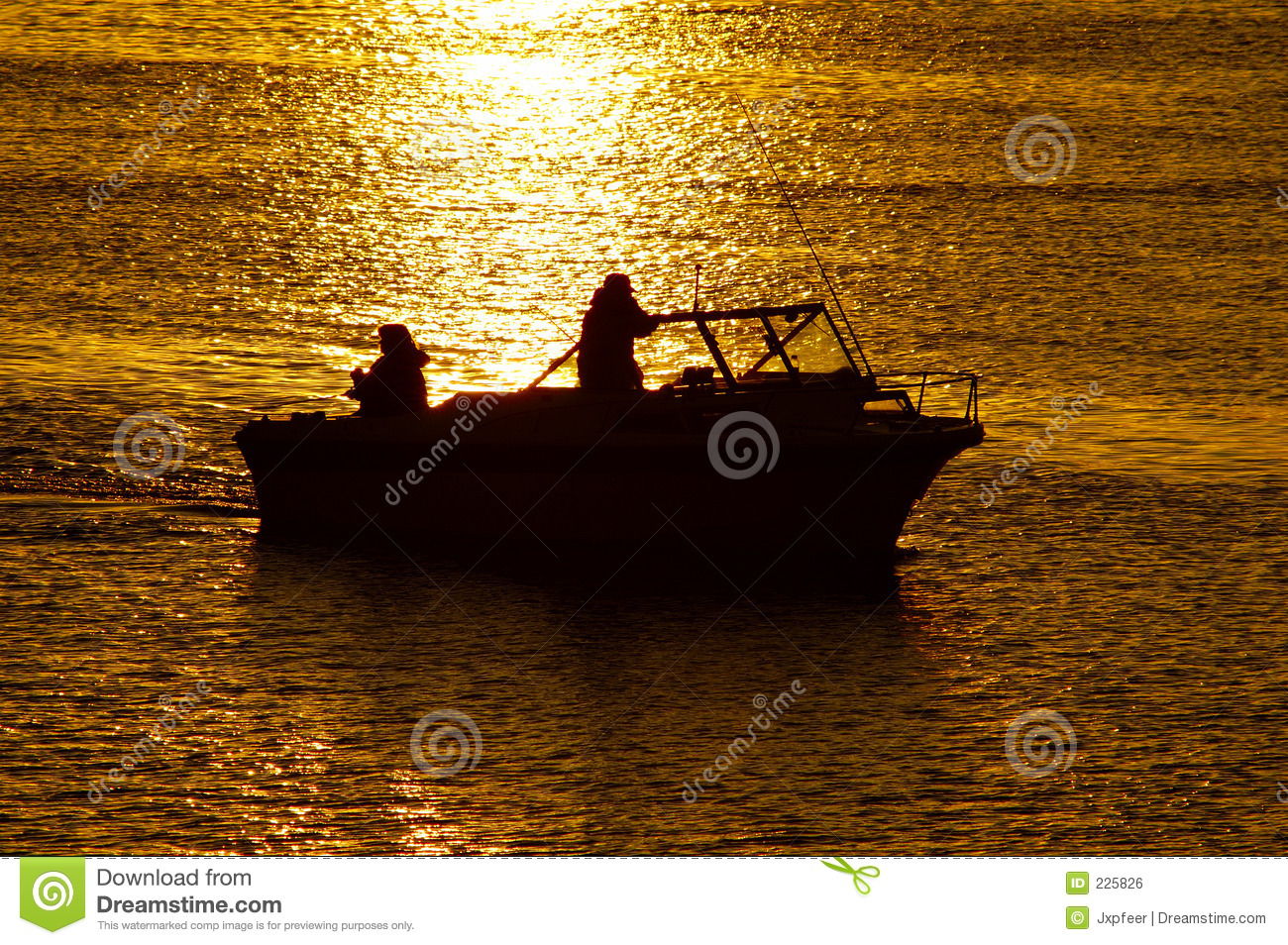 Boating at sunset