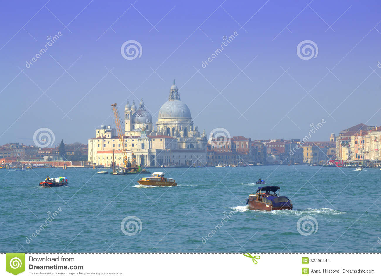 Boating in Venice lagoon