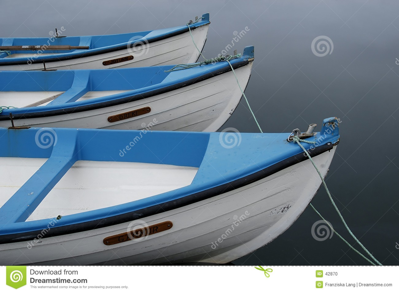 Download Boats stock photo. Image of tied, blue, paddle, boats, white - 42870