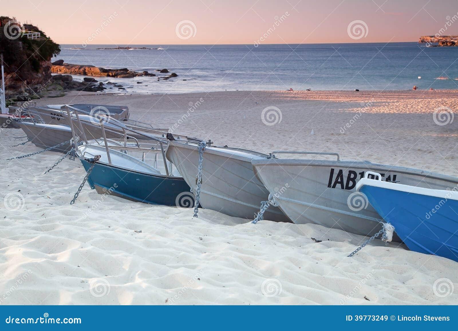 Boats White Sand Beach Stock Photo - Image: 39773249