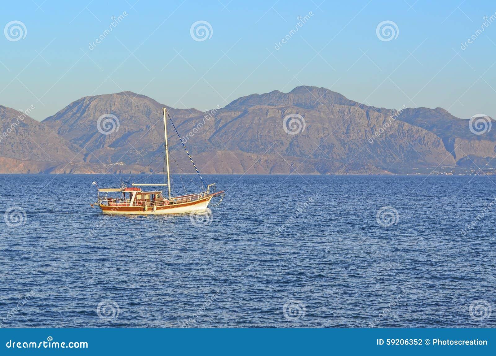 Boats In Crete Island Stock Photo - Image: 59206352