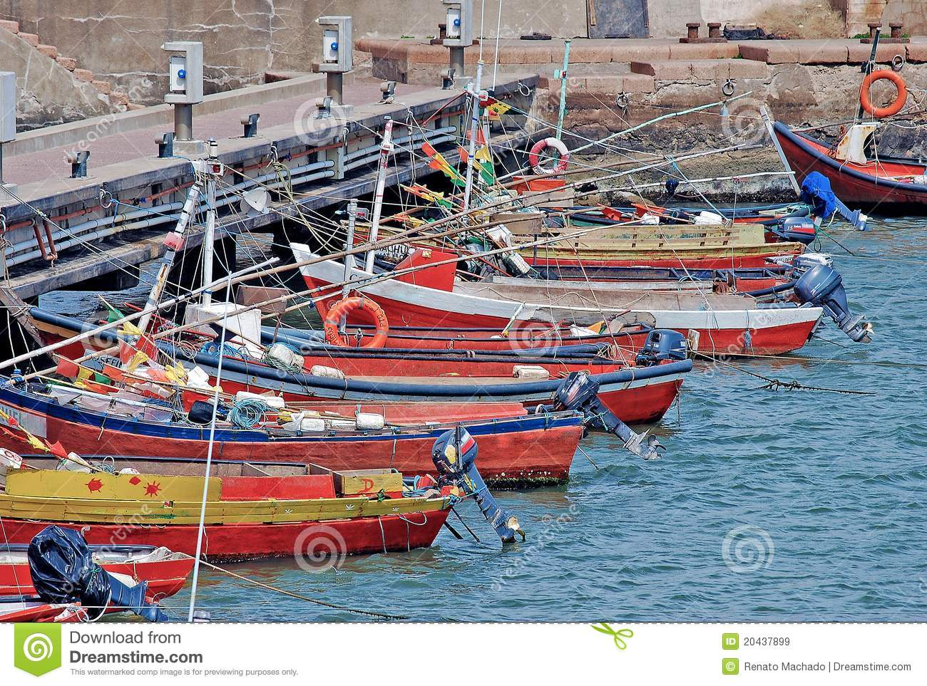 Download Boats dock stock image. Image of gray, piriapolis, marine - 20437899