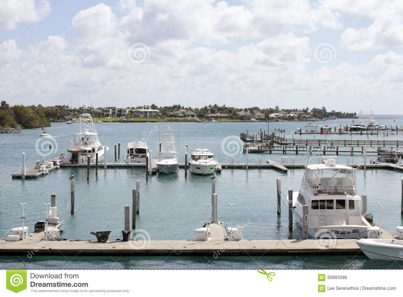 Boats Docked and Traveling in Jupiter Inlet