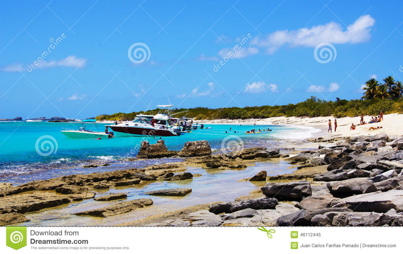 Boats In Icacos Beach. Puerto Rico Editorial Image - Image ...