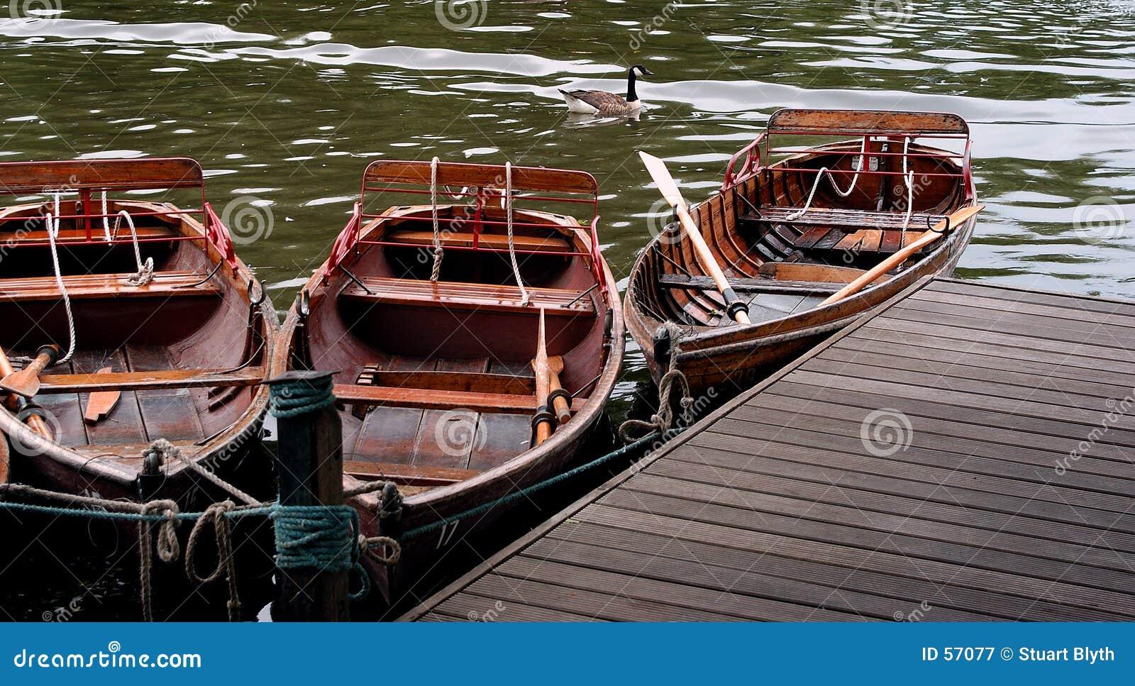 Boats on a lake