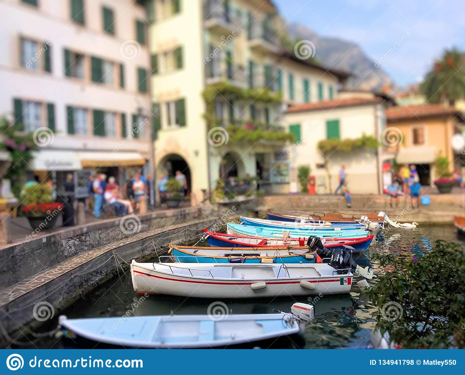 Boats in the marina of Limone sul Garda