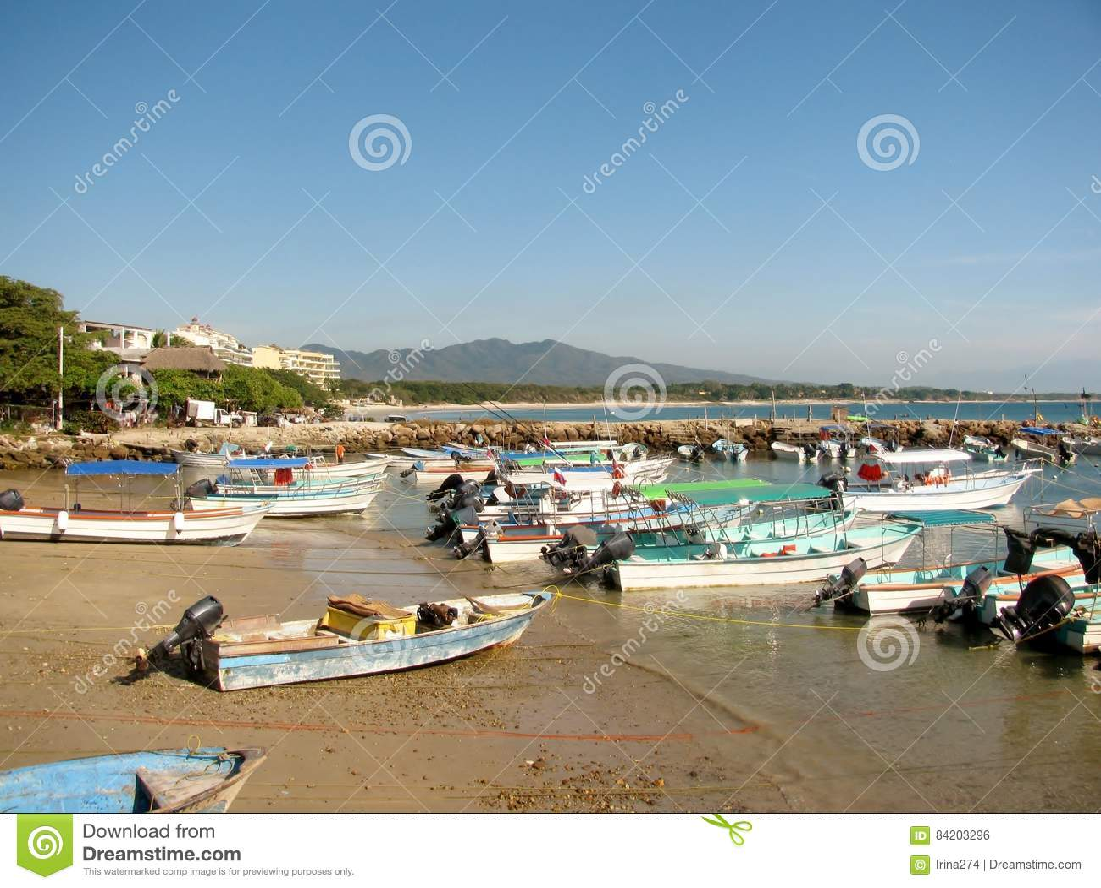 Boats in Punta Mita Nayarit, Mexico