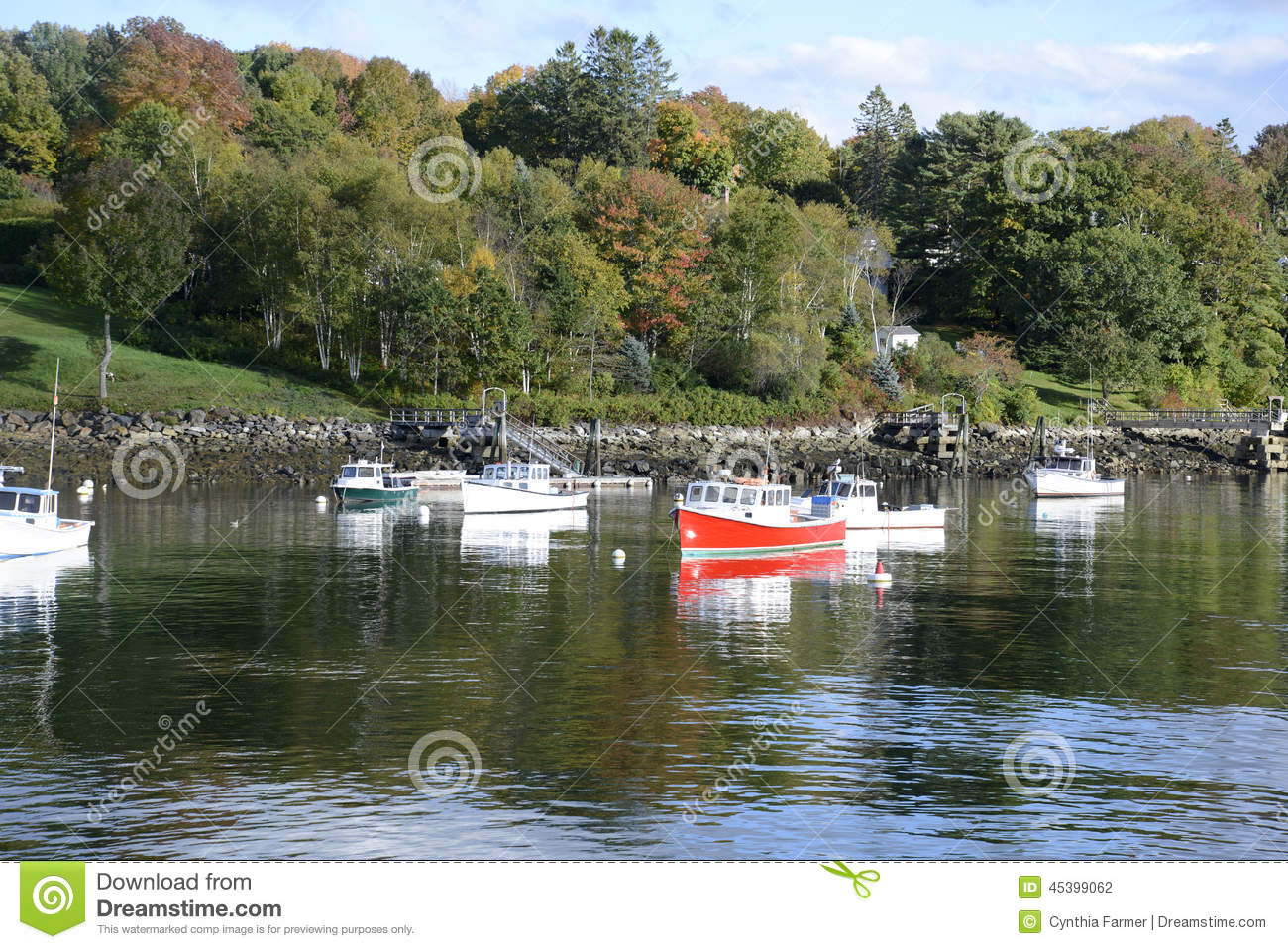 Boats in the rockport marine harbor in maine stock photo for Boat fishing near me