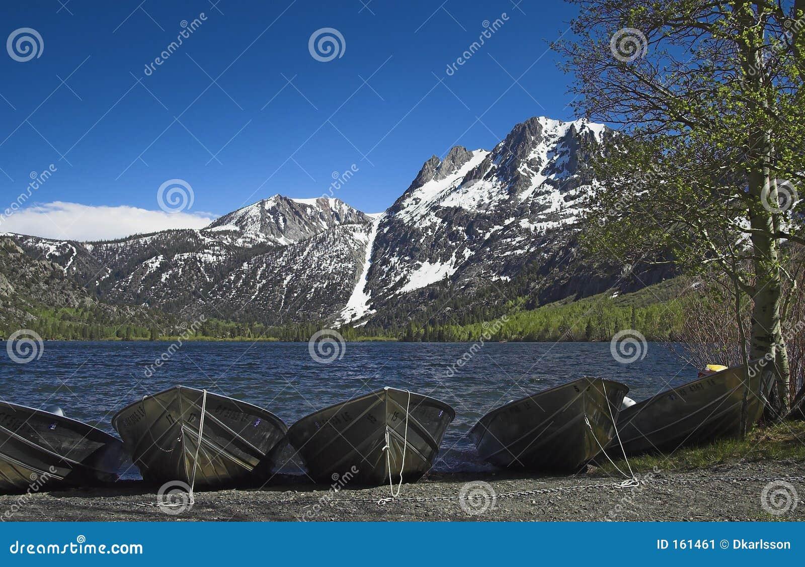 Boats on Silver Lake