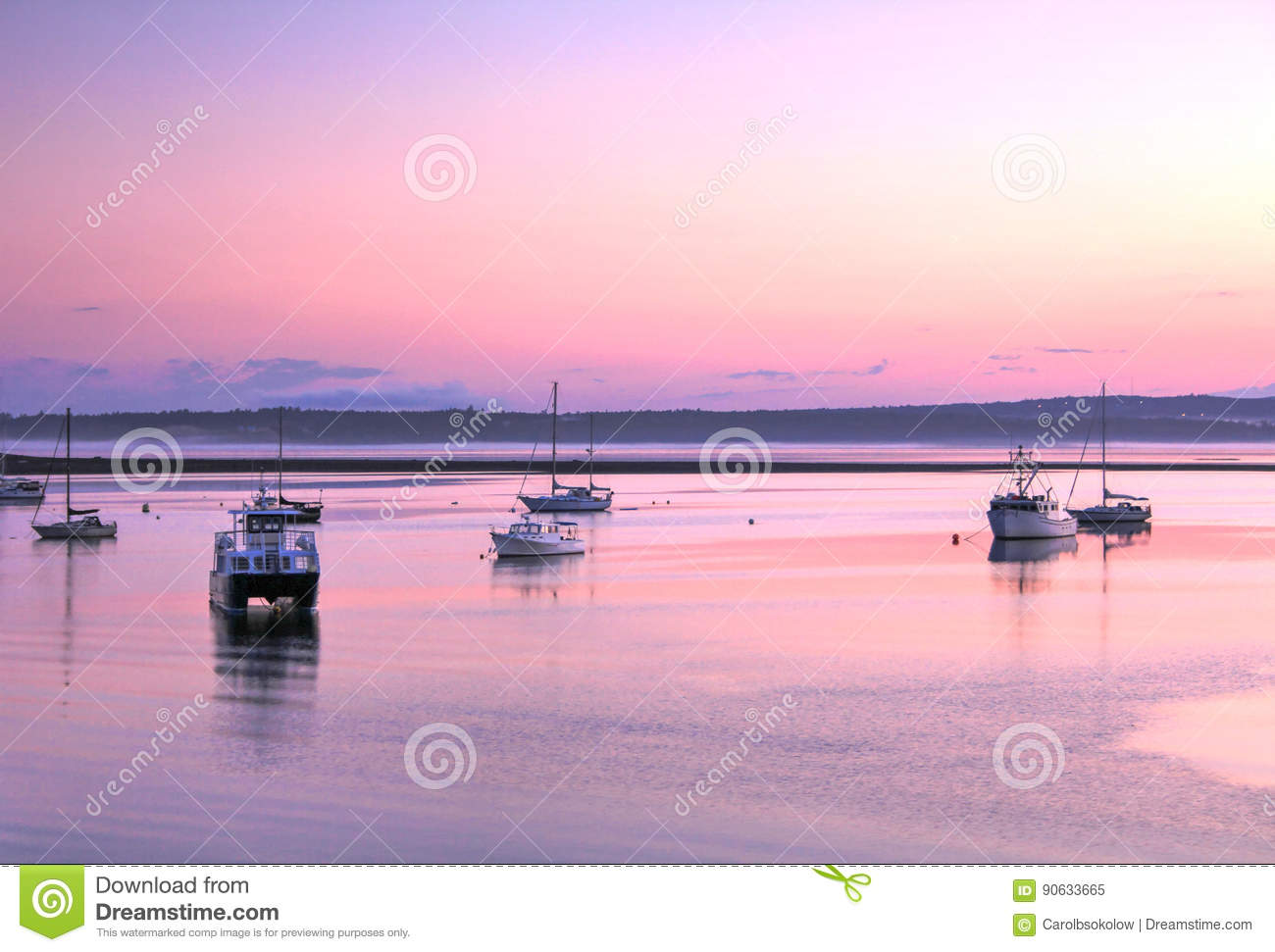 Boats at sunset, St. Andrews, New Brunswick