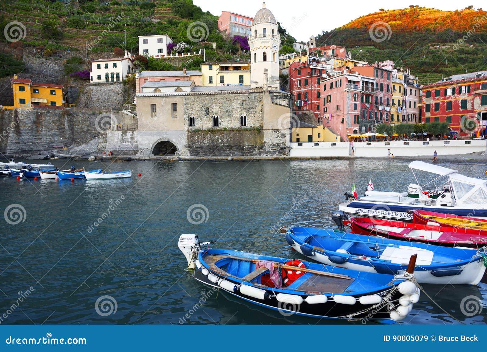 Boats, Vernazza, Cinque Terra, Italy