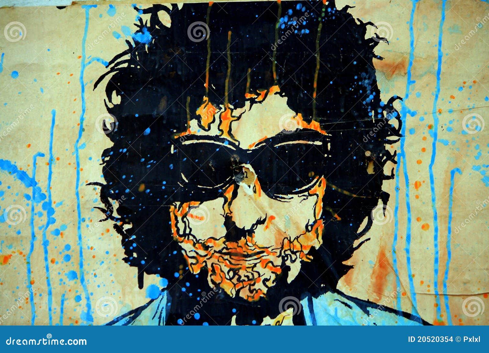 Bob Dylan graffiti art