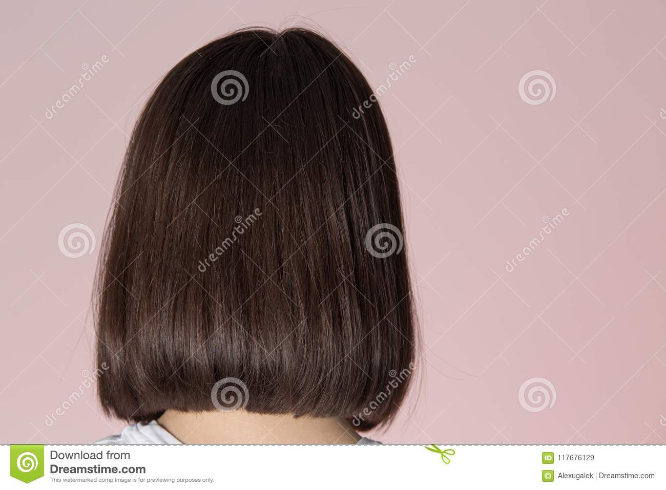 Bob Hairstyle View From Back Stock Image Image Of Haircut Short
