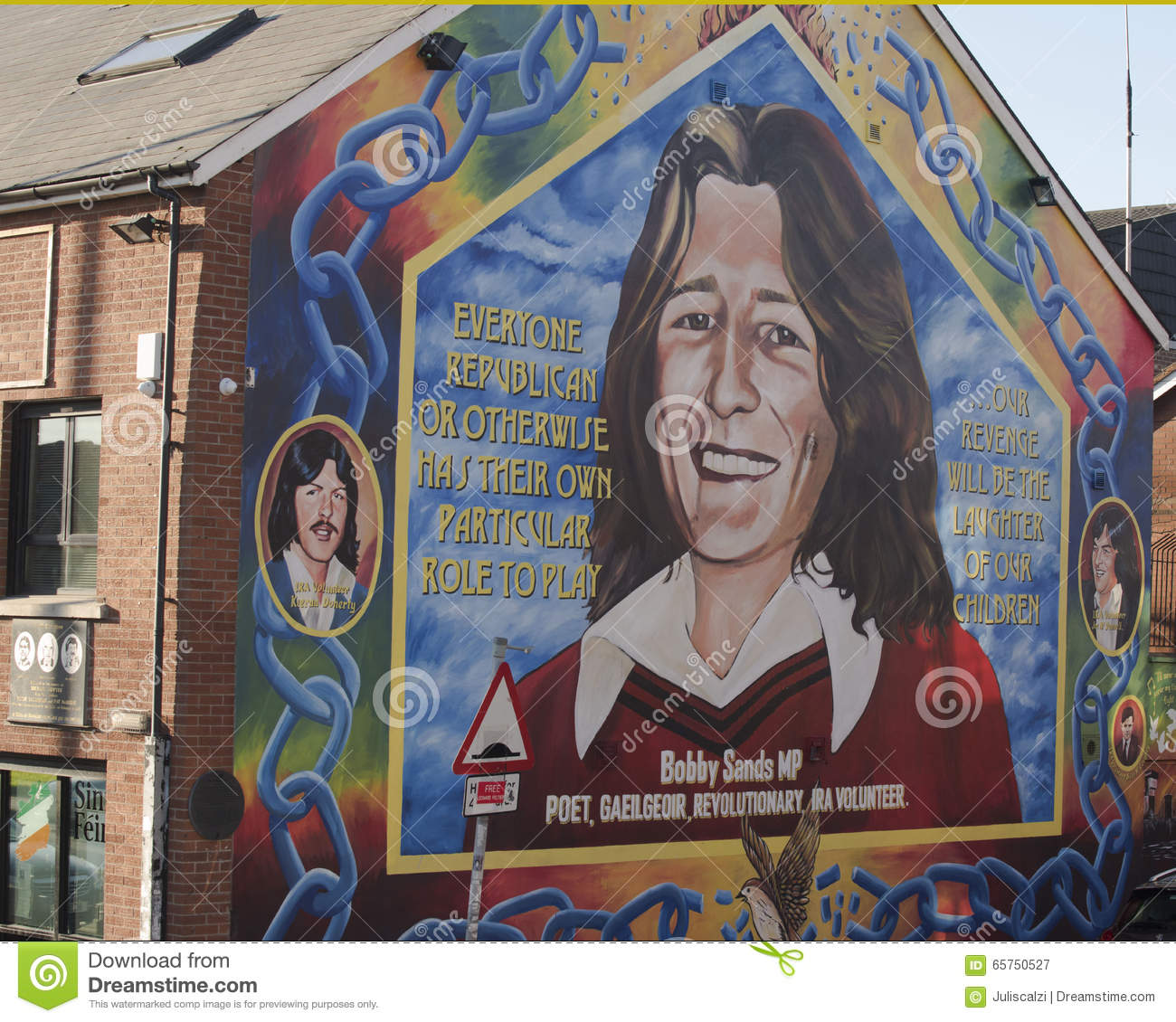 Bobby sands mural on the sinn fein building in belfast for Bobby sands mural