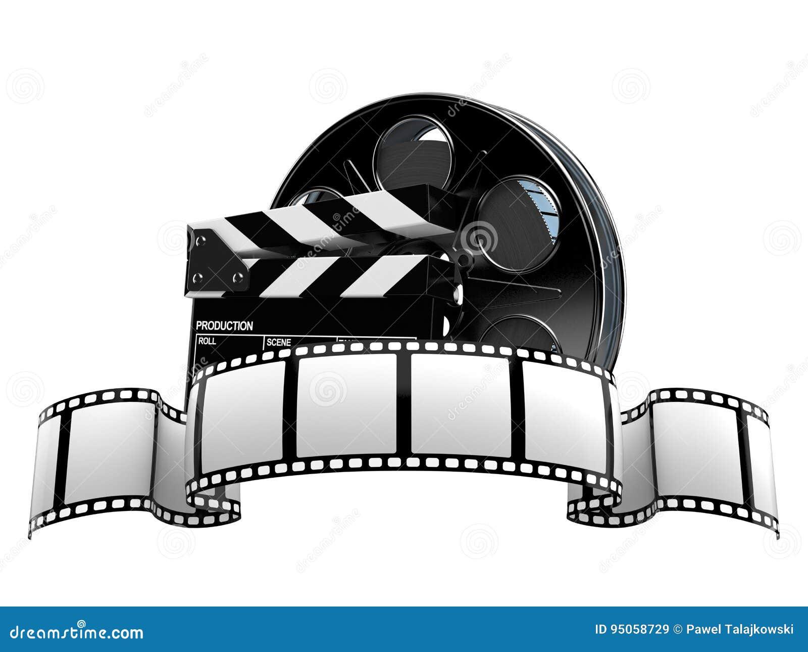 Bobina di film con la striscia di pellicola