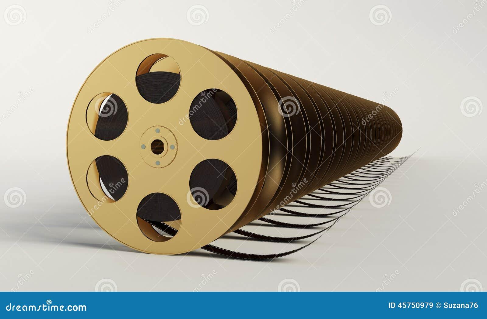 Bobina di film con una striscia di pellicola