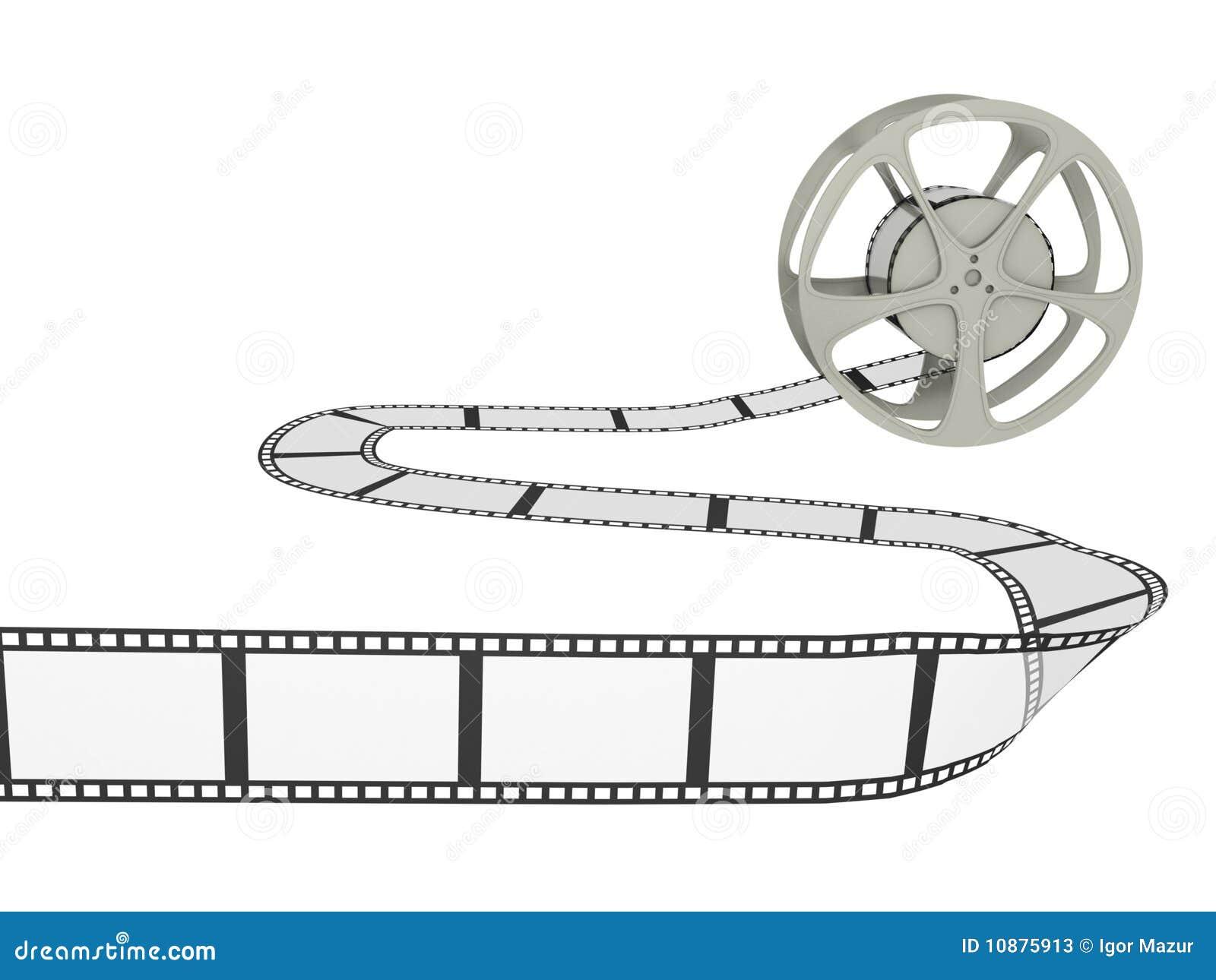 Bobina di pellicola con la striscia
