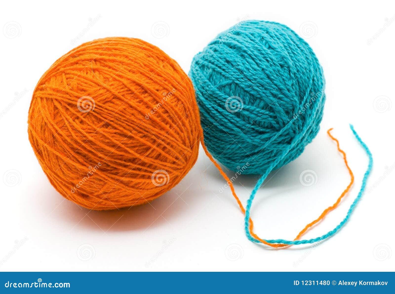 Bobina dos con las cuerdas de rosca de lana de diversos - Cuerdas de colores ...