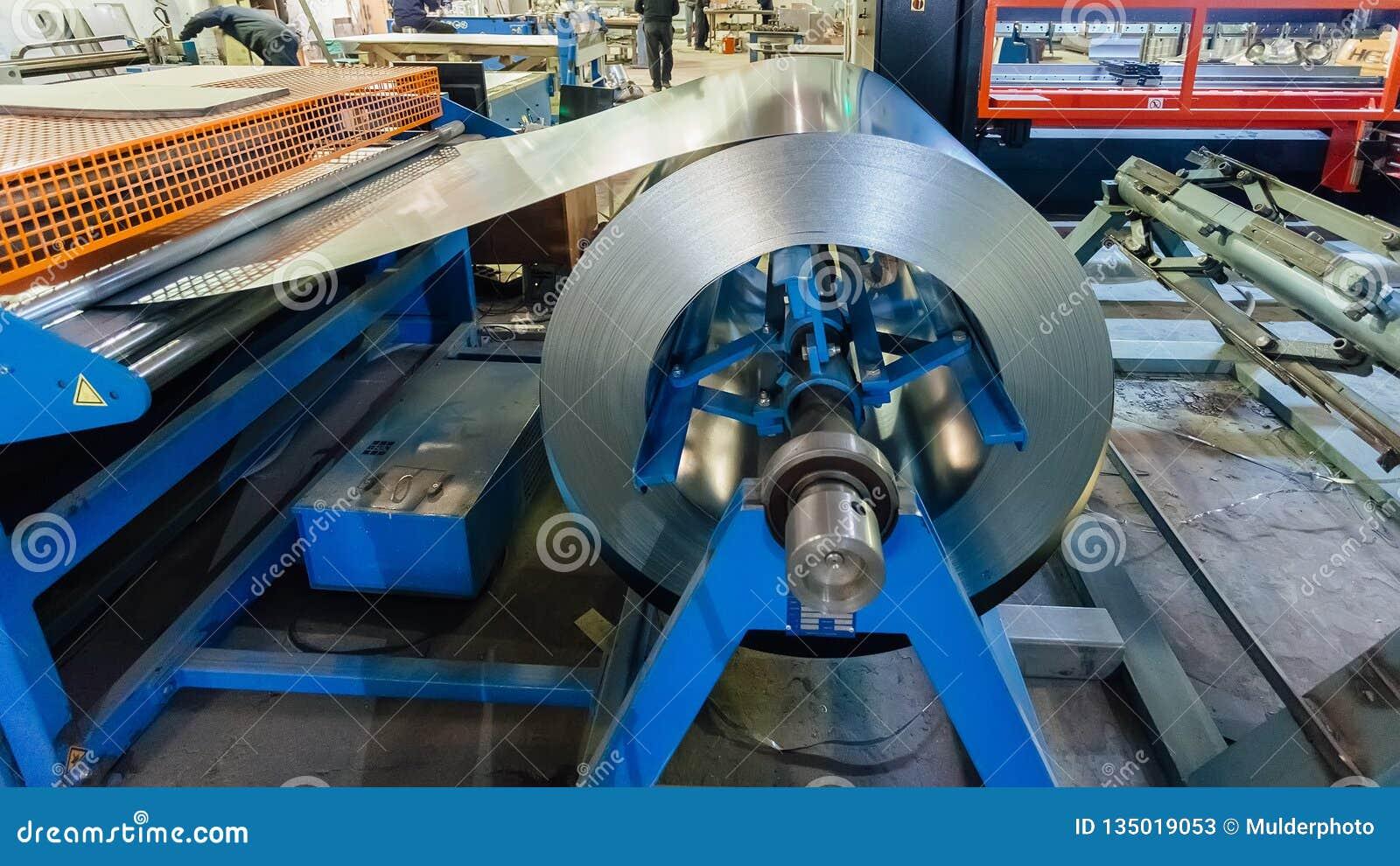 Bobina industrial da folha de metal para a máquina da formação de folha de metal na oficina