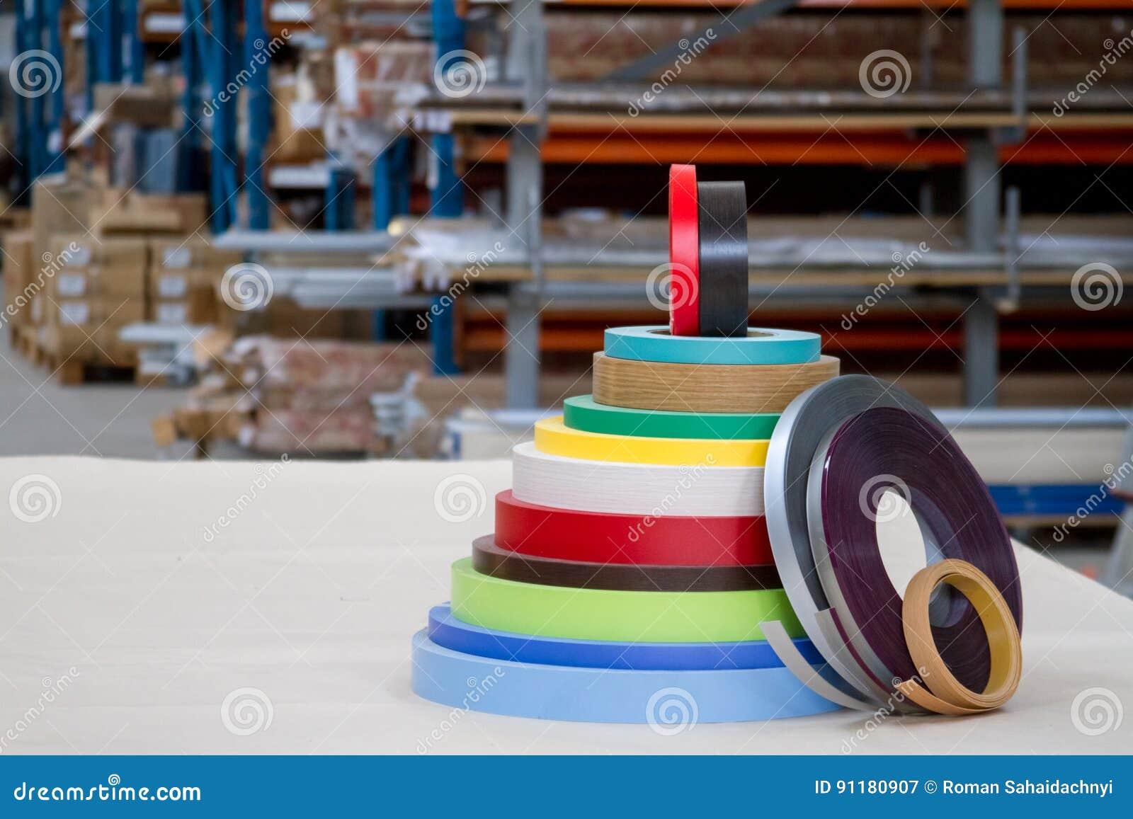 Bobinas Multicoloras Del Borde Y De La Melanina Del Pvc Para La  # Muebles Piramides