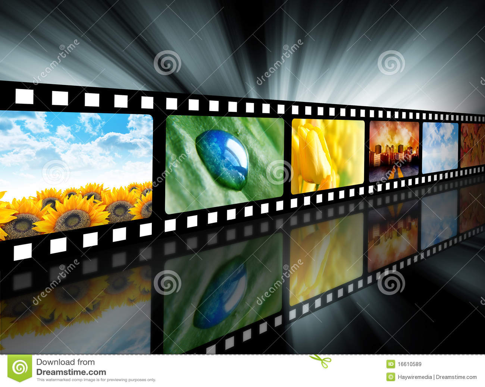 Bobine de film de divertissement de film
