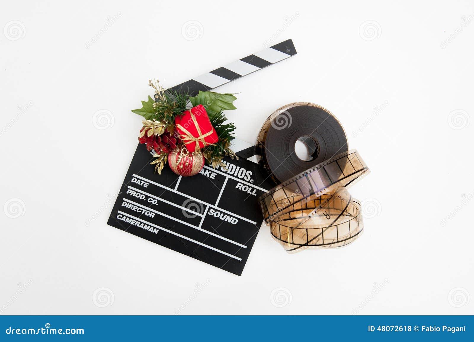 Bobine de film et panneau de clapet avec la d coration de for Panneau solaire pour decoration de noel