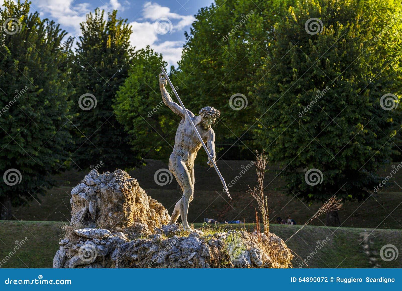 Bobolituin in Florence, de fontein van Neptunus Italië