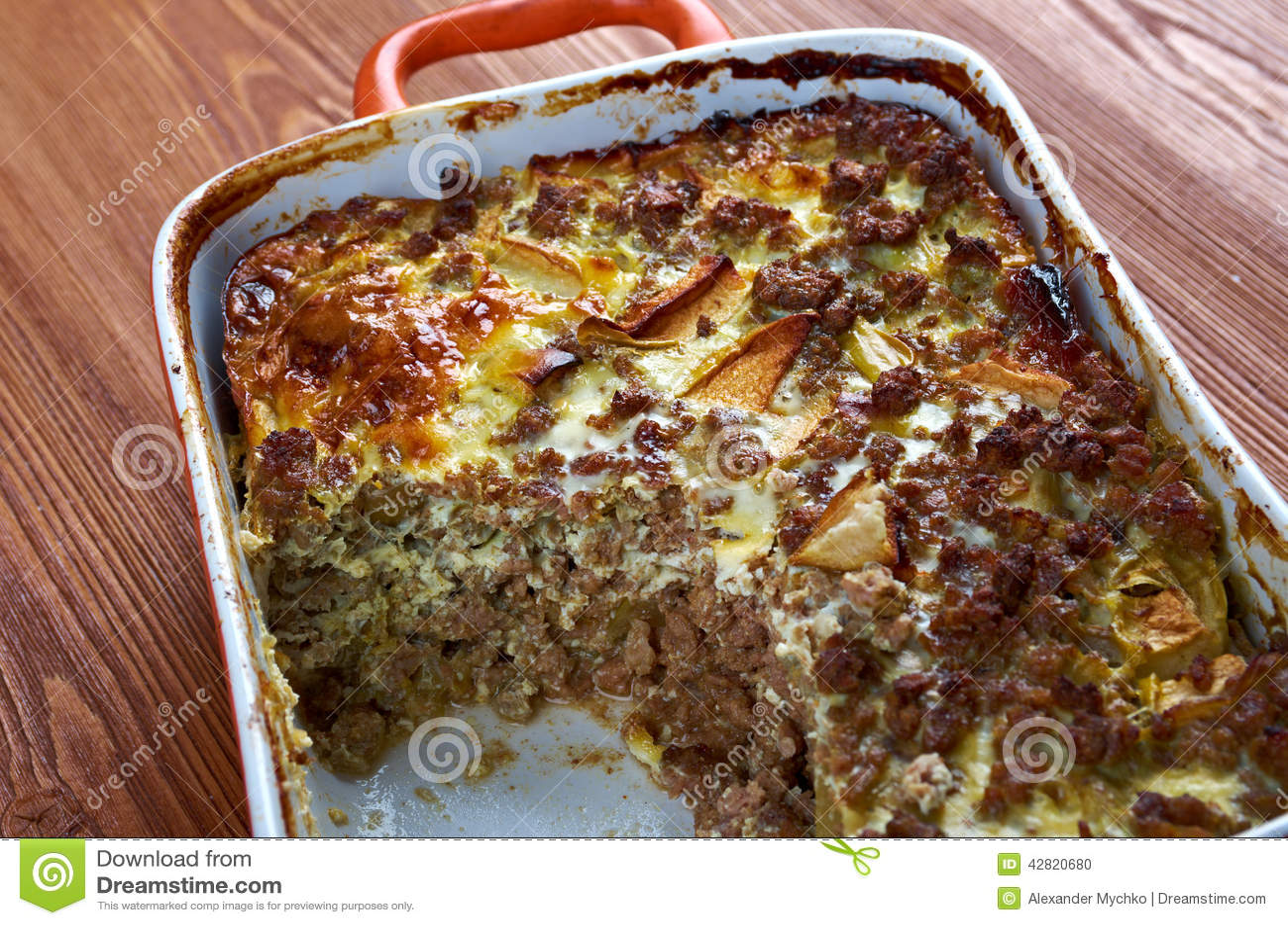 Bobotie Stock Photo Image Of Recipe Africa Food Apricot 42820680