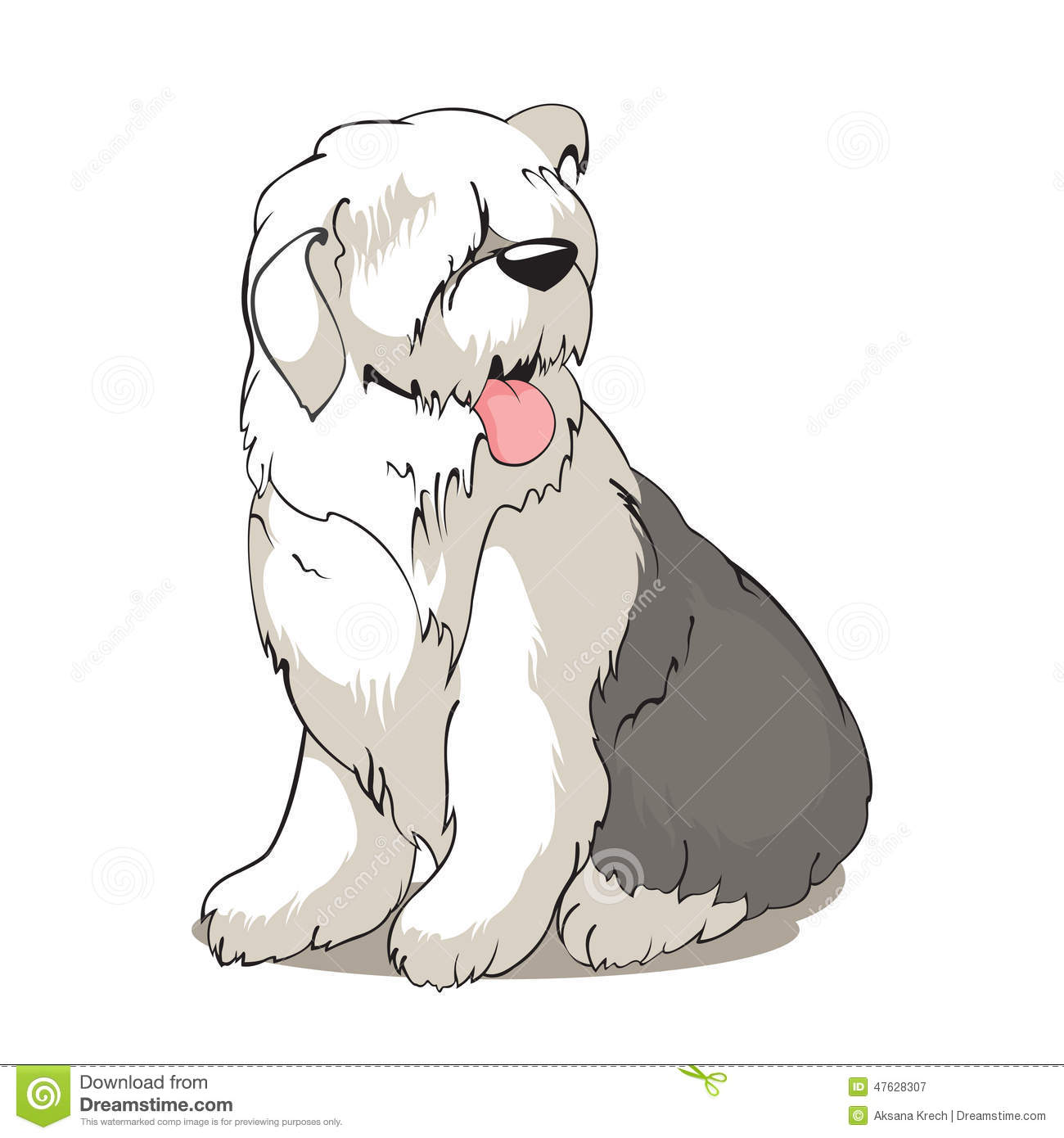 Bobtail DOG Stock Vector - Image: 47628307 Veterinary Tools Clip Art