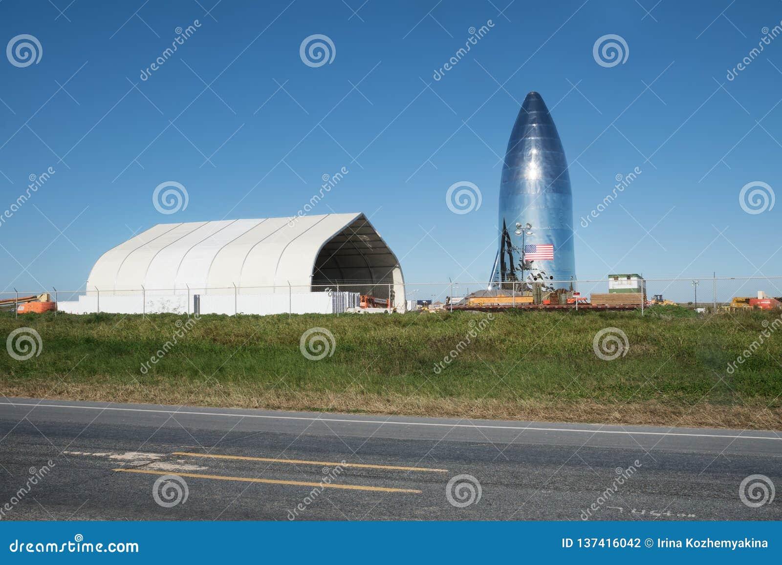 Boca Chica Village, le Texas/Etats-Unis - 20 janvier 2019 : Le nouveau site de lancement privé sera orbitale active de SpaceX la
