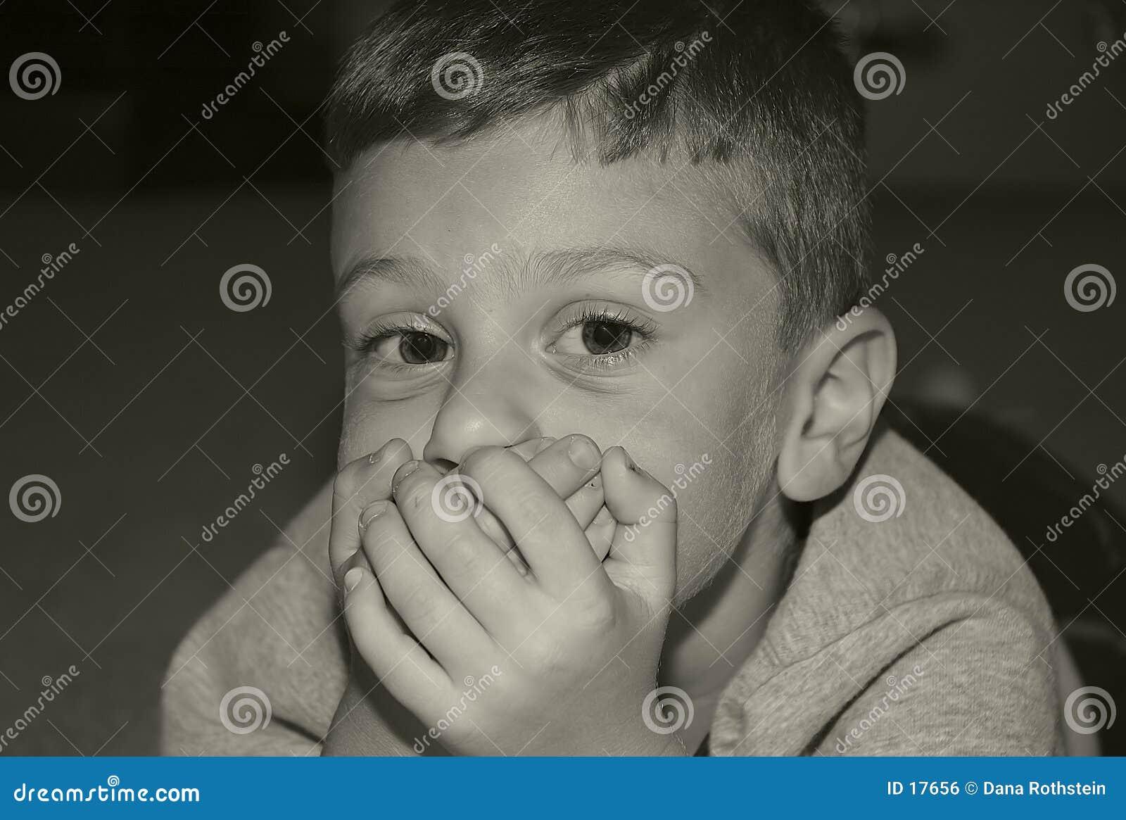 Boca da coberta da criança